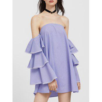 Off The Shoulder Flounce Casual Cute Dress