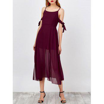 Spaghetti Strap Side Slit Boho Dress