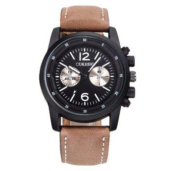 OUKESHI Faux Leather Wrist Watch
