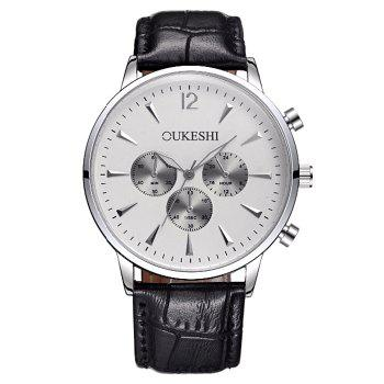 OUKESHI Faux Leather Qaurtz Watch
