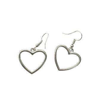 Love Heart Embellished Earrings