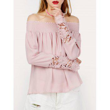 Lace Insert Off The Shoulder Top