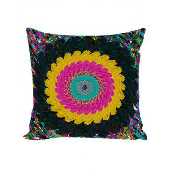 Boho Style Feathers Pattern Pillow Cover