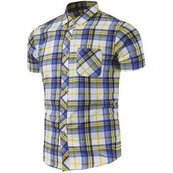 Plaid Pocket Casual Shirt