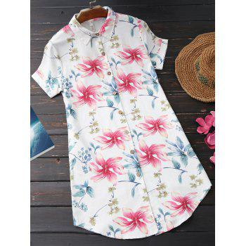 Long Digital Floral Printed Tunic Shirt