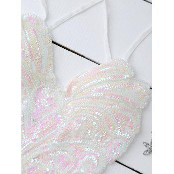 Sequins Cross Back Teddies - ONE SIZE ONE SIZE