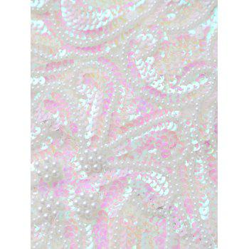 Sequins Cross Back Teddies - WHITE ONE SIZE