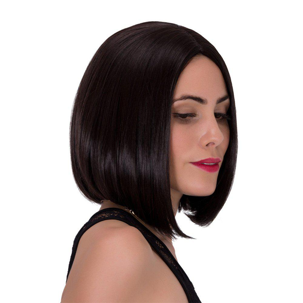 Ladylike Short Centre Parting Capless Straight Dark Brown Women's Synthetic Wig centre parting long straight synthetic capless wig