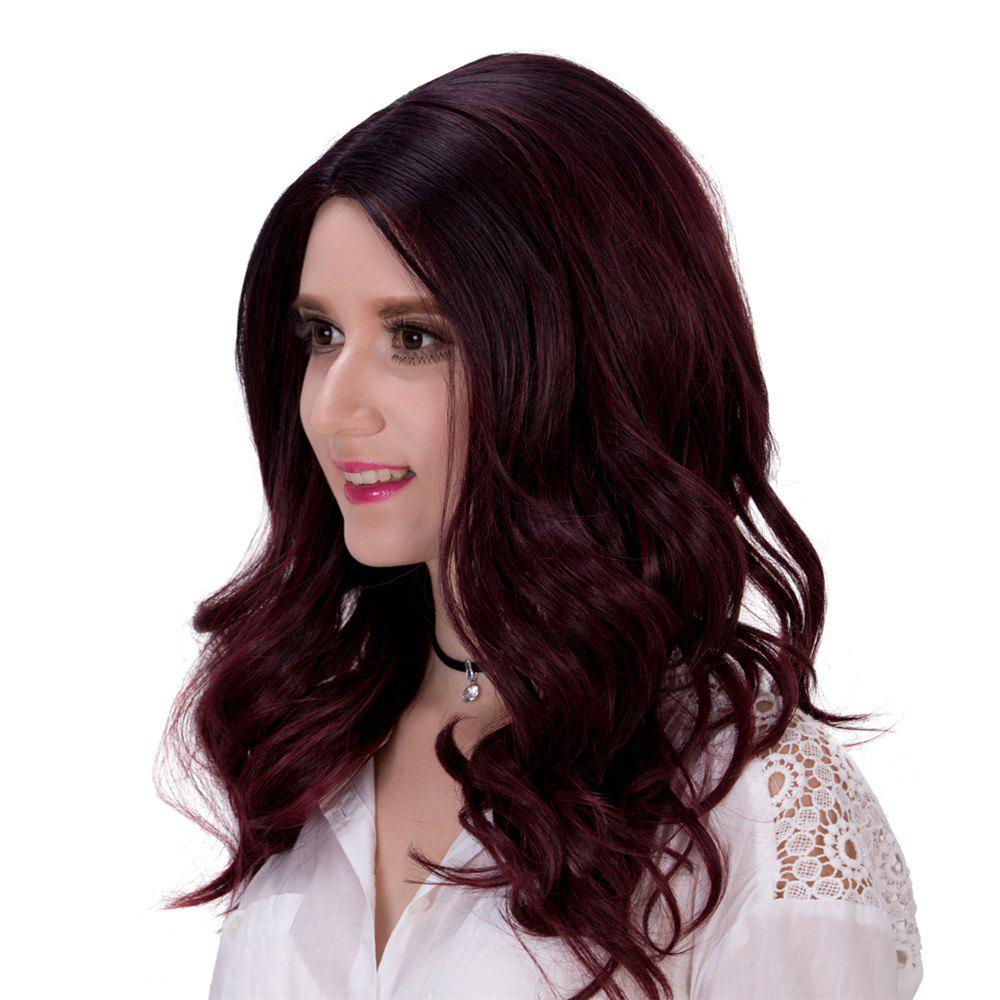 Fluffy Long Wavy Capless Charming Mixed Color Synthetic Adiors Wig For Women - COLORMIX
