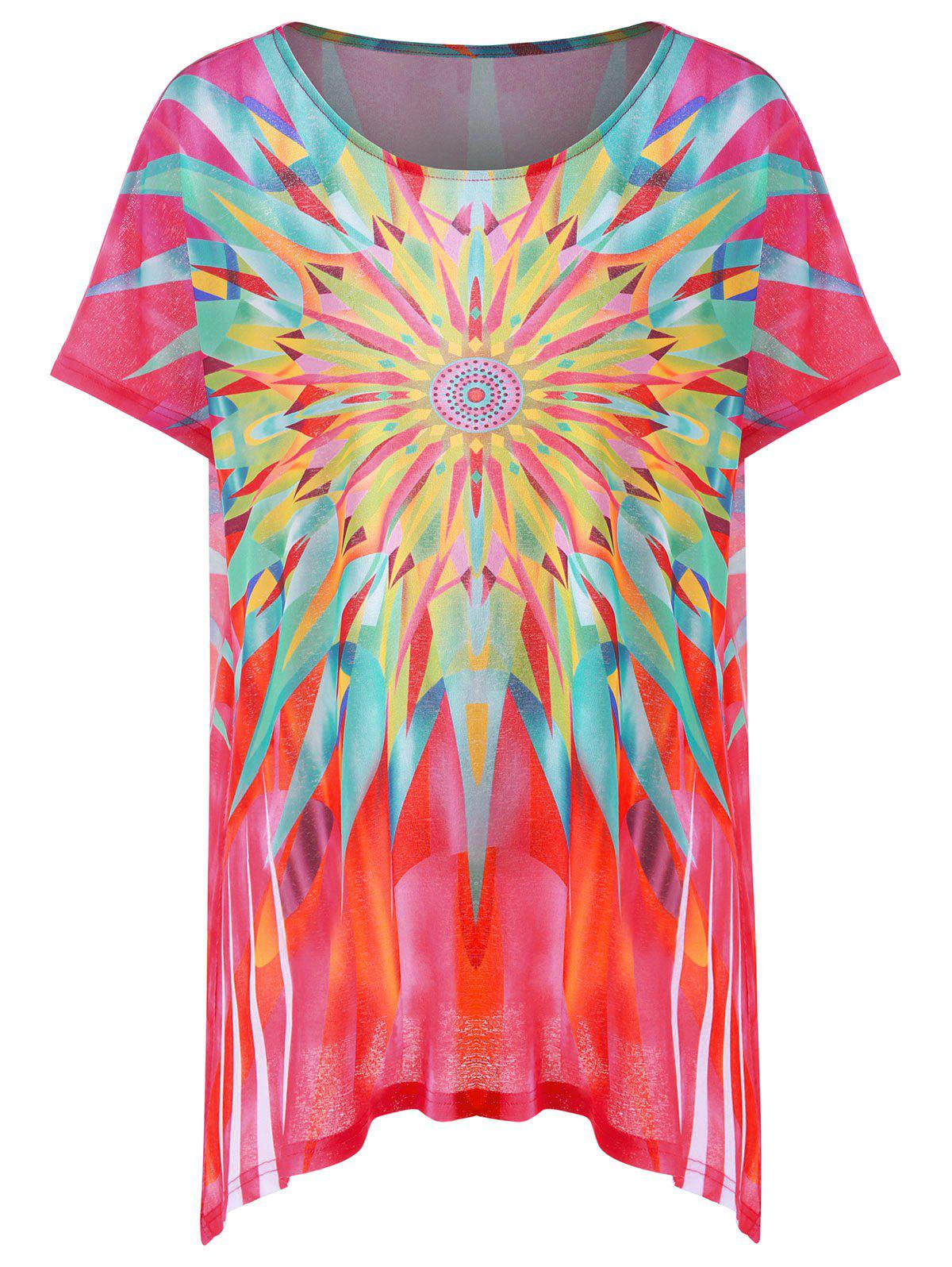 Graphic Longline Plus Size Tunic T-Shirt