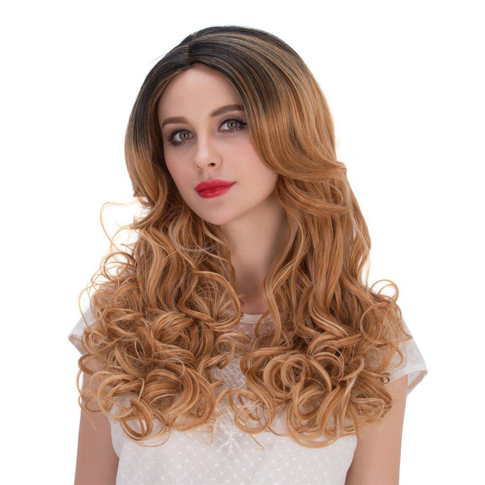 Multi Long Wavy Side Parting Perruque synthétique - multicolorcolore