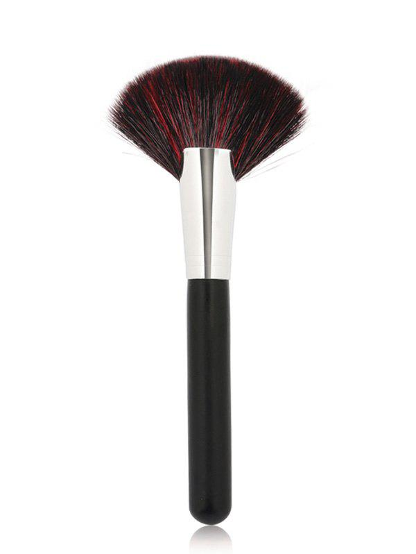 Cosmetic Goat Hair Fan Brush - BLACK