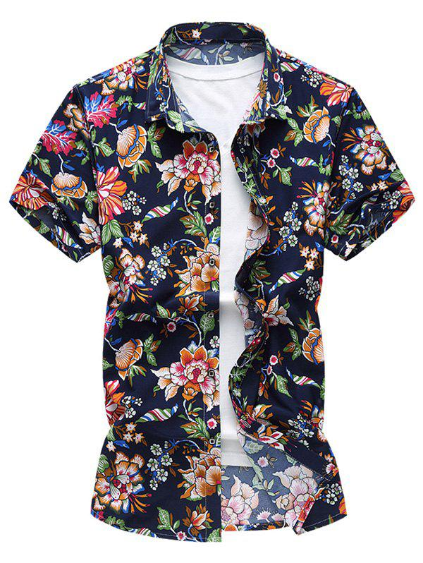 Flower Pattern Short Sleeve Shirt от Dresslily.com INT