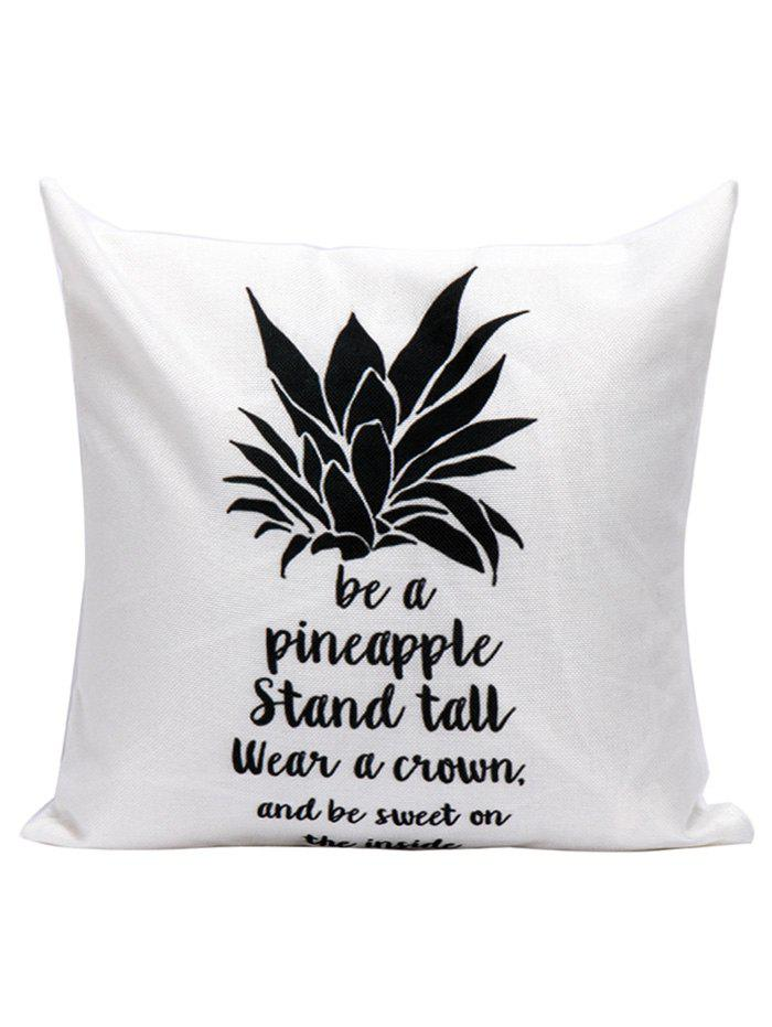 Pineapple Letter Printed Throw Pillow Case handpainted pineapple and fern printed pillow case