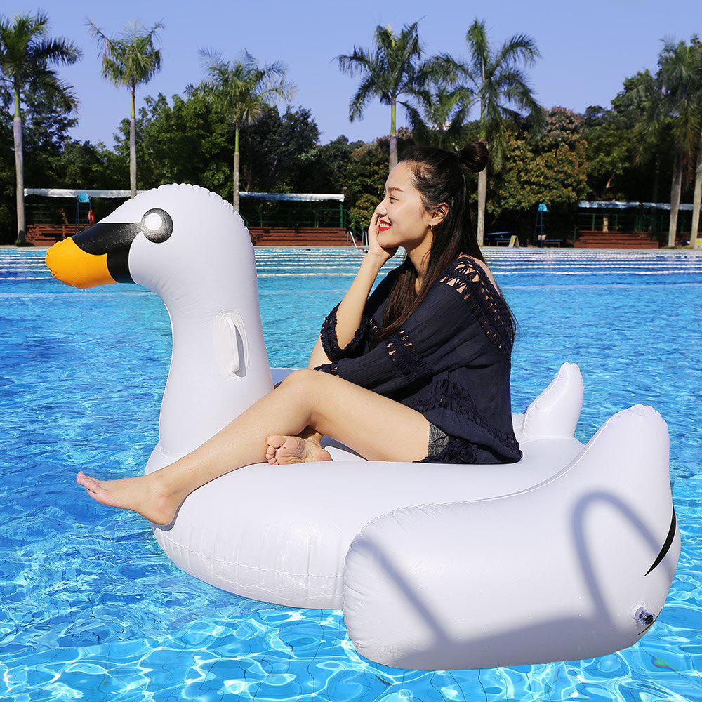 Inflatable PVC Swan Floating Row - WHITE