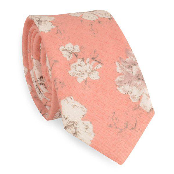 Flowers Printing Neck Tie - JACINTH
