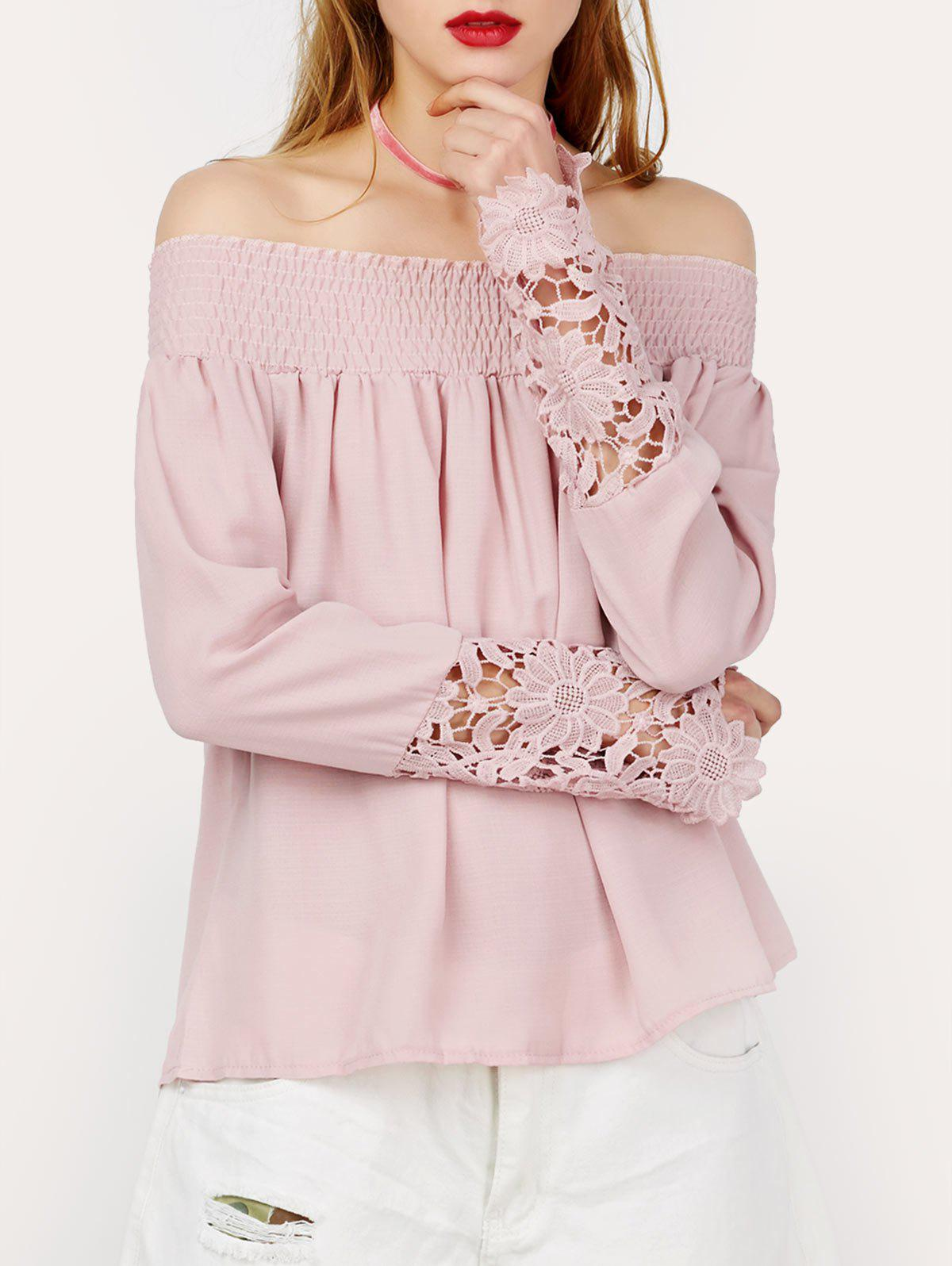 Lace Insert Off The Shoulder Top от Dresslily.com INT