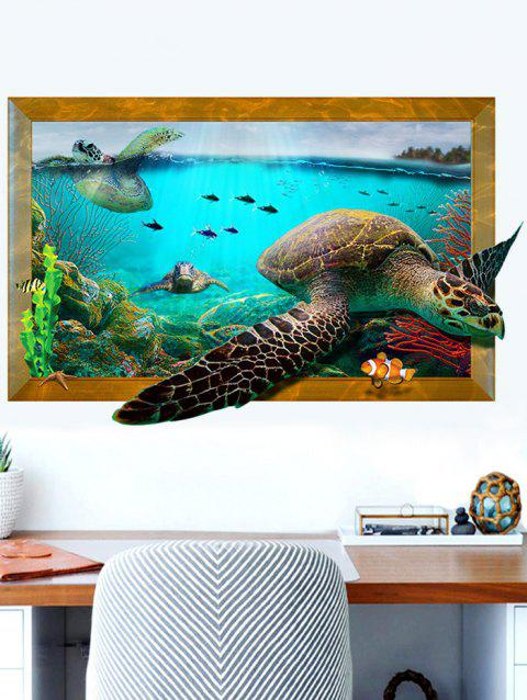 limited offer] 2019 3d aquarium decal turtle wall sticker in