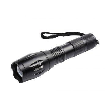 Waterproof Telescopic Zoom 5 Modes Flashlight