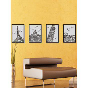 Hand Painting Building Photo Frame Wall Stickers