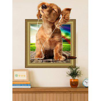 3D Dog Animal Removable Wall Sticker