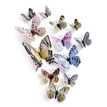 12Pcs 3D Butterflies Magnet DIY Home Decor Wall Stickers