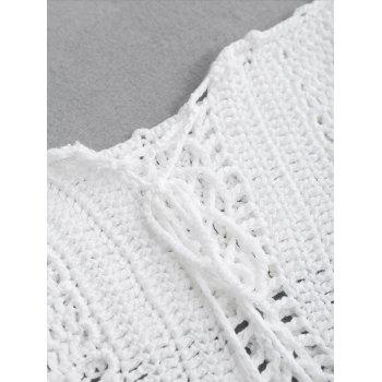 Off The Shoulder Crochet Swim Top - ONE SIZE ONE SIZE