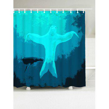 Dancing Sloth Under Sea Print Shower Curtain