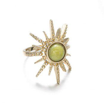 Faux Gem Sun Circle Ring