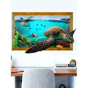3D Aquarium Decal Turtle Wall Sticker