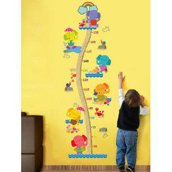 Children Room Cute Elephant Height Chart Sticker