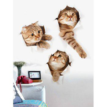 3D Naughty Pussy Cat Home Decor Wall Sticker Animal