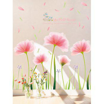 Blooming Flower Print Removable Wall Sticker