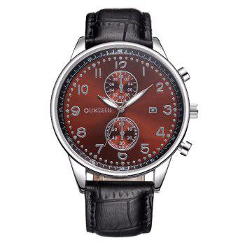 OUKESHI Faux Leather Calendar Business Watch