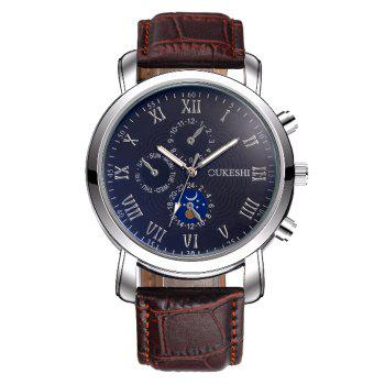 OUKESHI Roman Numerals Analog Business Watch