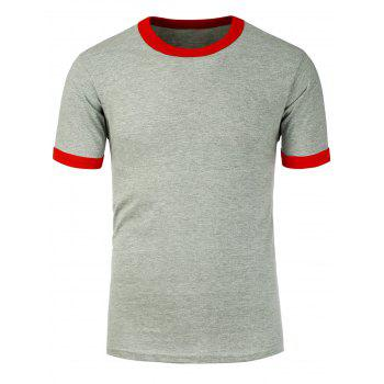 Short Sleeves Color Spliced T-Shirt