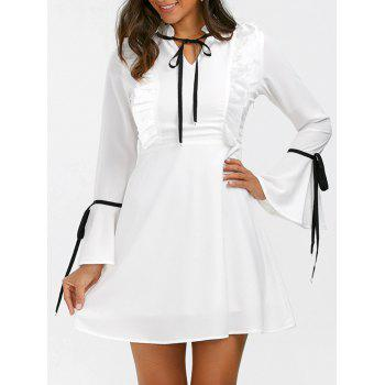 Flare Sleeve Ruffle Dress