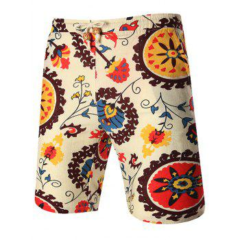 Floral Print Pocket Shorts