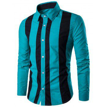 Two Tone Striped Long Sleeve Shirt