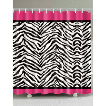 Zebra Stripe Pattern Waterproof Shower Curtain