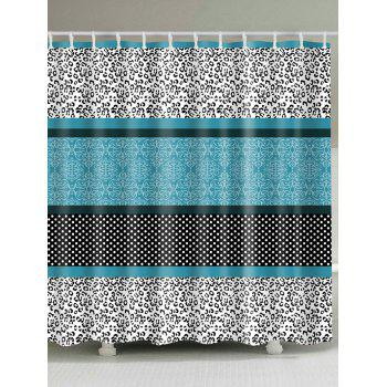 Leopard Panel Polka Dot Pattern Shower Curtain