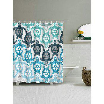 ... Eco Friendly Tortoise Extra Long Shower Curtain   COLORMIX W59 INCH *  L71 INCH
