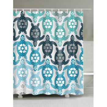 Buy Eco-Friendly Tortoise Extra Long Shower Curtain COLORMIX