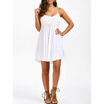 Crochet Trim Halter Dress