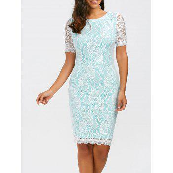 Floral Fitted Lace Dress