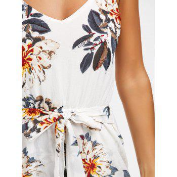 Spaghetti Strap Floral Mini Summer Dress - L L