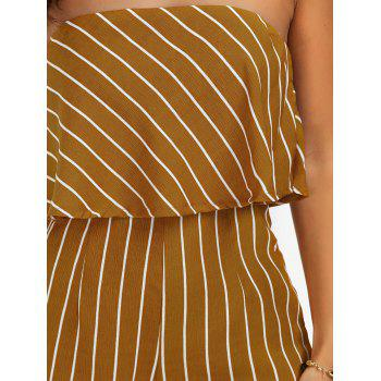 Robe à volants Stripe Romper - Jaune XL