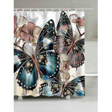 Mouldproof Butterfly Print Shower Curtain
