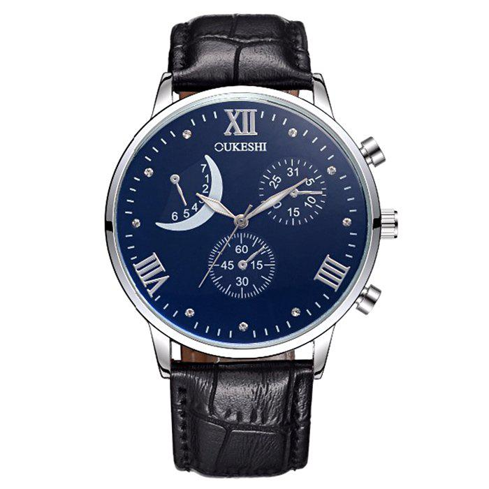 OUKESHI Artificial Leather Roman Numerals Moon Watch ювелирные серьги silver wings серьги