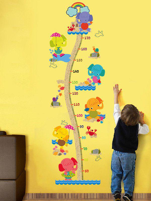 2018 Children Room Cute Elephant Height Chart Sticker COLORMIX CM In ...